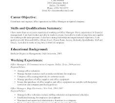 Resume Management Objective A Good Resume Example