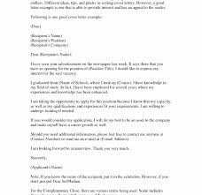 Example Cover Letters For Resume Writing Letter Examples Best Photos
