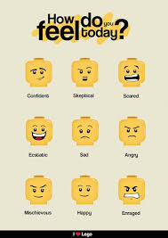 Emotion Chart For Kids Lego And Other Visual Supports To Help Autistic Children