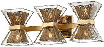 Troy B5803 Expression Contemporary Gold Leaf Led 3 Light Bathroom Vanity Lighting Tro B5803