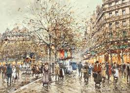 french les galeries lafayette a paris en 1900 oil painting by antoine blanchard for