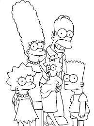 The Simpsons Coloring Pages Coloring Pages The Colouring Pages Trend