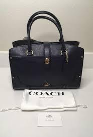 NWT COACH 37575 Mercer Satchel 30 in Grain Leather - Navy Blue