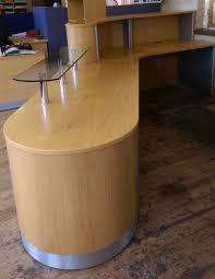 light oak veneer reception desk