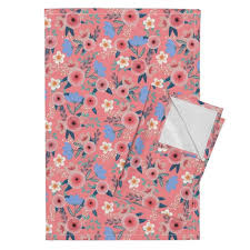 get ations fl gouache flowers flowers pink flowers pink roses pink fl pretty flowers tea towels fl on