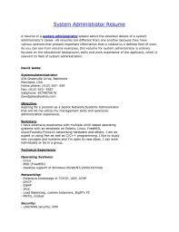 Unix Administration Sample Resume Resume Cv Cover Letter