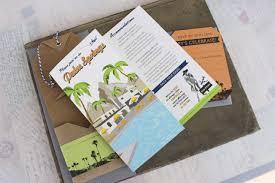 How To Make Travel Brochure Travel Brochure Wedding Invitation Palm Springs Ca