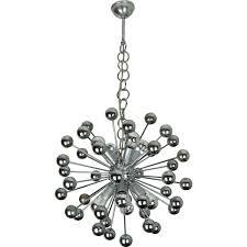 sputnik chandelier in chromed metal and plastic 1960s