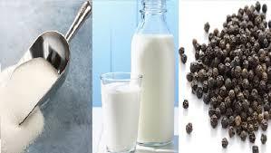 milk sugar pepper