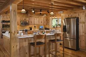 Rustic Home Lighting Log Wood Kitchen With Black Rustic Track Lighting Fixtures Home