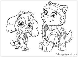 Skye Coloring Pages New Zuma Paw Patrol Coloring Page Best Skye Paw