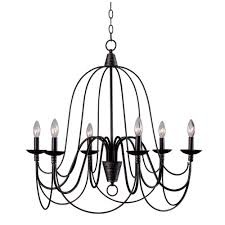 kenroy home pannier 6 light oil rubbed bronze with silver highlights chandelier