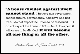 A House Divided Quote Bible Adventures with Jude Abraham Lincoln Speaks A House Divided 5