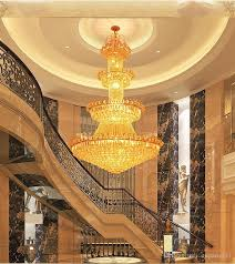 luxury double floor crystal chandelier hotel lobby lamp villa living room golden royal family crystal chandeliers interior decoration lights girls