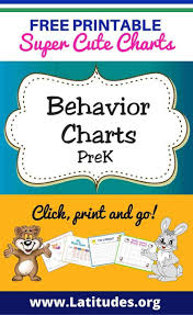 Free Printable Behavior Charts For Teachers Students Pre