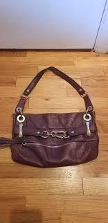 purple leather b makowsky purse
