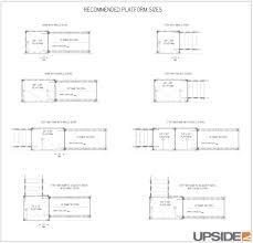 ramp landing dimensions