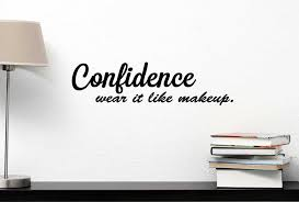 Wall Decor Quotes Stunning Amazon Confidence Wear It Like Makeup Inspirational Vinyl Wall