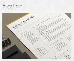 Modern Column Resume Making Resumes In Microsoft Word Envato