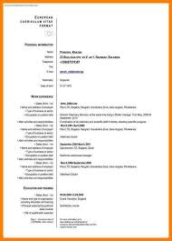 Curriculum Vitae Format Unique 48 European Curriculum Vitae Format Word Business Opportunity Program