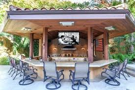 outdoor kitchen wood the outdoor kitchen has a hanging perfect for a weekend barbecue with family