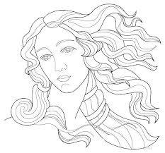 Coloring Pages Drawing Page 5 In Top Rated Images Easy Goddess Of