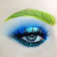 coloured eyebrows high fashion eye makeup looks