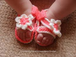 Crochet Baby Sandals Pattern Unique Crochet Baby Sandals HappyBerry