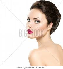 beauty woman portrait isolated on white background beautiful model face makeup gorgeous lady