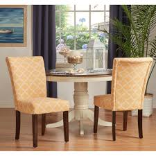 catherine moroccan pattern fabric parsons dining chair set of 2 by inspire q bold sky blue set of 2
