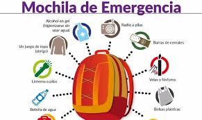 plan de emergencias familiar es indispensable preparar la mochila de emergencias ante un sismo