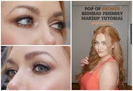 pop of bronze redhead friendly eyeshadow tutorial