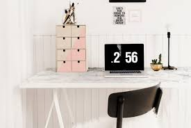 Stylish Desk Ikea Hacks For Organized Office Desk And Workspace Apartment Therapy