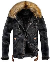 <b>Fashion Denim Jacket</b>, <b>Mens</b> Winter Warm Plush Collar Coat Plus ...