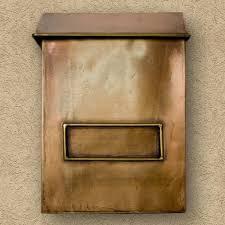 brexton vertical wall mount copper mailbox