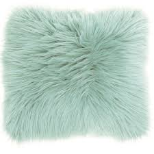 seafoam green throw pillows. Contemporary Pillows Mina Victory Faux Fur Pastel Seafoam Green Throw Pillow 22Inch X 22 In Pillows L