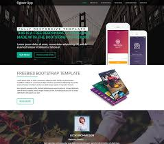 Free Templates Free Download Oginer App Landing Bootstrap Template Free Download Mwthemes