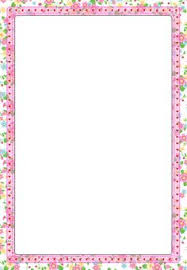 Printable Bordered Paper Designs Free flower border stationery paper designs floral 100 floral 100 2