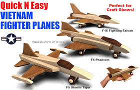 build the quick n easy vietnam fighter planes full size wood toy plan set