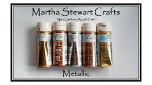 Swatching Martha Stewarts Metallic Acrylic Paint Collection