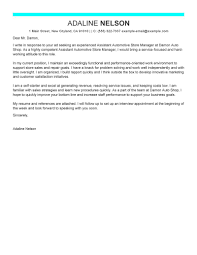 Cover Letter For Retail Store Manager Position