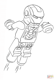 Small Picture Coloring Pages Lego Iron Man Coloring Page Free Printable
