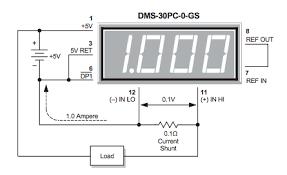 direct current ammeters eeweb community Dc Ammeter Shunt Wiring Diagram basic ammeter circuit (shunt in low side) dc ammeter wiring diagram