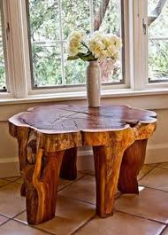 amazing natural wood table designs with tree stump and trunk