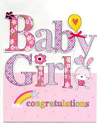 Congratulation On A Baby Large New Baby Girl Congratulations Greeting Card Cards