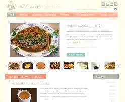 Free Food Blog Templates Nefrocaribe Co
