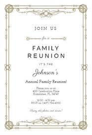 Family Reunion Program Template Invitation Templates Free Greetings