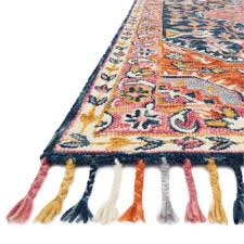 loloi zharah 5 x 7 6 hand hooked wool rug in navy