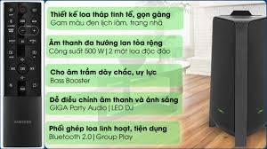 Loa karaoke 500W 1500W Samsung T50 bh 27/9/2021 & T70 bh 19/2/2022