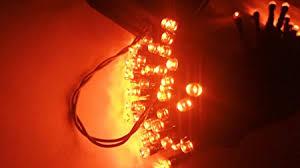 <b>Halloween String Lights</b>, 40ft 100 LED Orange Lights,8Modes, Solar...